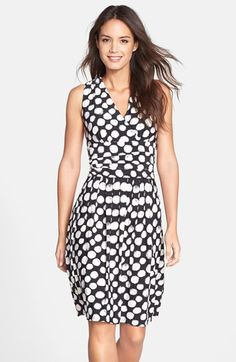 Eliza J Print Jersey Fit & Flare Dress available at #Nordstrom