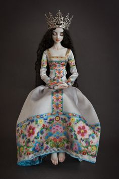 Banshee Enchanted Doll by Marina Bychova Handmade, handpainted, one of a kind porcelain ball jointed dolls.
