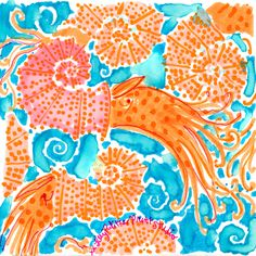 Lilly Pulitzer nking of you. Lilly Pulitzer Patterns, Lilly Pulitzer Prints, Lily Pulitzer Wallpaper, Love Lily, Creature Drawings, Scrapbooking, Vintage Labels, Beach Art, Autumn Inspiration