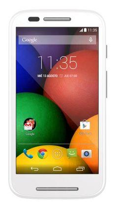 Motorola Moto E – Smartphone libre Android (pantalla 4.3″, cámara 5 Mp, 4 GB, Dual-Core 1.2 GHz, 1 GB RAM), blanco   Your #1 Source for Mobile Phones, MP3 Players & Accessories