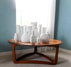 Mid Century Lane Round Coffee Table Danish Modern by MidCenturyFLA