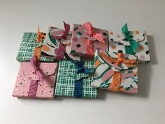 Chocolate Treat Gift Wrap - Video Tutorial with Playful Palette DSP by Stampin' Up - YouTube