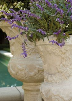 All the romance and history of a Provencal garden, captured here in our gorgeously detailed urn collection. Sprays of botanicals and ribbon laurels encircle these artfully cast, all-weather planters, which are made of a durable pulverized stone and polyresin. The curved base and egg-and-dart molded rim create a dramatic foundation for flowers, grasses and topiaries. Grand Entryway, Grand Entrance, Seasons Months, Topiaries, Grasses, Sprays, Lawn And Garden, Urn, Decorative Accessories