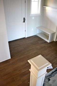 Will consider this. Wood-look tile instead of hardwood. Radiant heated floors will keep our feet toasty too.