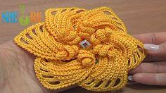 Sheruknittingcom: Crochet 6-Petal Flower Tutorial 59 Part 1 and  2