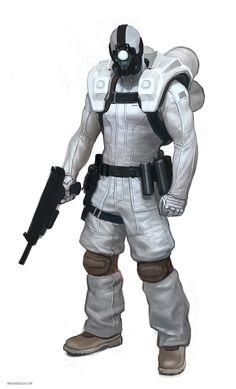 Soldier Suit - Monocular Gasmask