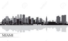 miami florida skyline silhouette - Google Search