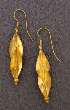 Fulani gold earrings, Mali.