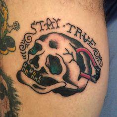 Stay true bike tattoo