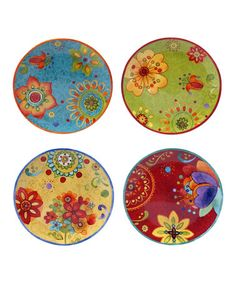 Loving this Tunisian Sunset Salad Plate - Set of Four on #zulily! #zulilyfinds