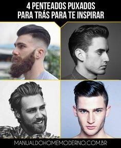 4 opções de cortes e penteados puxados para trás para você se inspirar se o seu cabelo tem o comprimento médio.