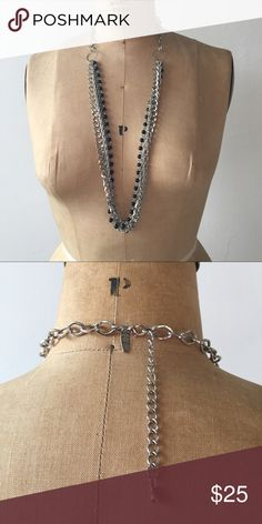 Silver and black stranded necklace Three strands, adjustable length. Jewelry Necklaces