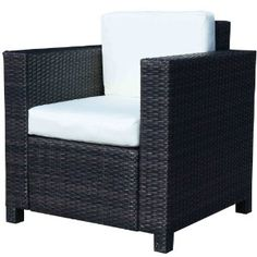 Fabulous Outsunny RATTAN GARDEN CHAIR All Weather WICKER WEAVE SINGLE SOFA CHAIR ALUMINIUM OUTDOOR PATIO CHAIR