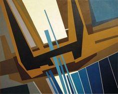 Gualtiero Nativi - Possibilità trascendentale, 1963 - Tempera su tavola, cm. 160 x 200 - FerrarinArte