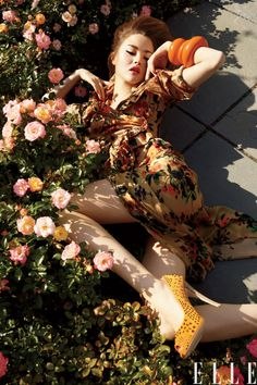 Orange  Roses ❀ Trend for Spring 2012 |   Elle editorial 2012