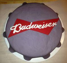Budweiser bottle cap cake