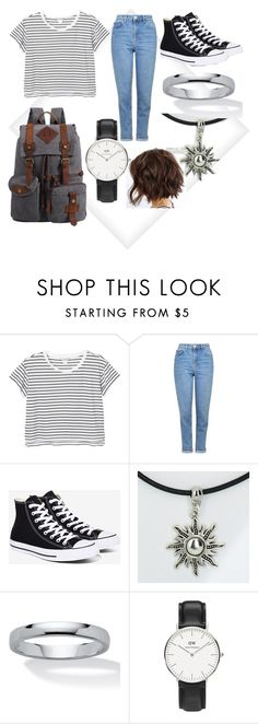 """R.I.P"" by blind-mous3 ❤ liked on Polyvore featuring Monki, Topshop, Converse, Palm Beach Jewelry and Daniel Wellington"