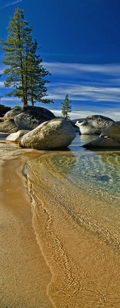 Tahoe lake, California, USA