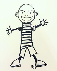 Another catchup sketch for #inktober. Day 11: Happy #kuretake #usa #dearjetpens #manuscriptinktober @manuscriptpenco