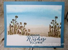 Stamp & Scrap with Frenchie: Watercolor Background and Painter Tape
