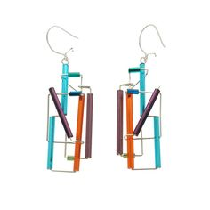 Barbie Levy Abstract Colorful Sky Earrings