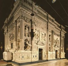 The Holy House of Loreto, which was moved by the angels from Nazareth.