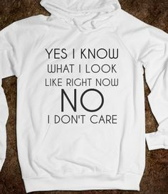 Yes I know what I look like. No I don't care Hoodie