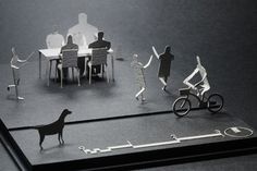 paper and architecture: Architectural Model Accessories Series by Terada Mokei (via Cool Hunting)