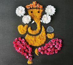Latest Ganesh Rangoli Designs, Ideas And Pictures For 2018 Rangoli Designs of Lord Ganesha Diwali Craft, Diwali Diy, Diwali Rangoli, Rangoli Designs Diwali, Rangoli Designs Images, Diwali Party, Diwali Food, Rangoli Designs Flower, Rangoli Patterns