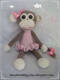 Handmade by Ülkü: Amigurumi Affenmädchen / Crochet Monkey Girl / May...