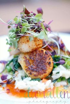 Scallops at Olive Lucys  #keepingitreal, #foodporn, #foodphotography, #photography, #scallops, #yum, #yummyinmytummy, #food, #dinner,  #dinnertime, #eating, #eatingdinner, #foodstyling,  #natural, #organic,