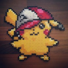 Pikachu perler beads by lemon_tizuie