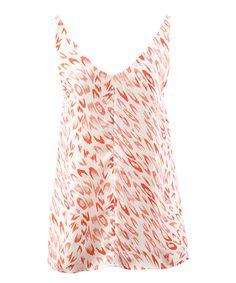 Another great find on #zulily! Pink & White Flirty Camisole by cabi #zulilyfinds