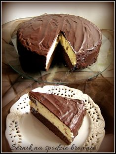 Sernik na spodzie brownie Tiramisu, Pie, Ethnic Recipes, Torte, Fruit Tarts, Pies, Tart, Tiramisu Cake, Cheeseburger Paradise Pie
