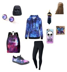 """⭐️🌟🌙☄✨💫"" by qweenunicorn on Polyvore featuring NIKE, Casetify, JanSport and Erin Considine"