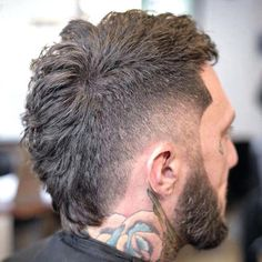 Mohawk Fade Hairstyle - Best Men's Haircuts: Cool Hairstyles For Guys - Fade, Undercut, Quiff, Faux Hawk, Comb Over, Spiky Hair, Side Part, Slicked Back Hair #menshairstyles #menshair #menshaircuts #menshaircutideas #mensfashion #mensstyle #fade #undercut Mohawk Hairstyles Men, Cool Hairstyles For Men, Haircuts For Men, Short Haircuts, Medium Hairstyles, Greek Hairstyles, Wedding Hairstyles, Stylish Hairstyles, Modern Haircuts