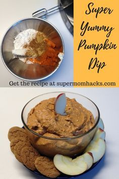 Craving the pumpkin spice flavors that go along with autumn? Try this super-yummy pumpkin dip on apple slices for a delicious healthy filling fall snack.