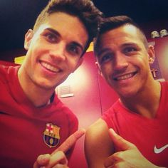 Marc Bartra and Alexis Sanchez FC Barcelona Marc Bartra, Football Soccer, Football Players, James Rodriquez, Fcb Barcelona, Best Club, My Only Love, Celebs, Celebrities