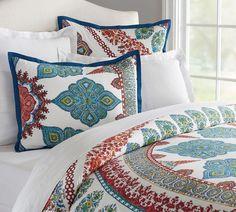 Aurora Quilt Cover & Pillowcase - Cool Multi