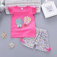 f3b6a86c49e Baby Girls Clothing Outfits Sets Fashion Brand Summer Newborn Infant Baby  Girls Clothes Casual Sports Brand