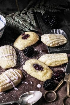 these madeleines are so light and airy this recipe is from the Laduree cookbook and uses lemon zest and honey. i adapted it and used just