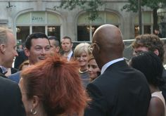 Luke Evans meeting Samuel L Jackson