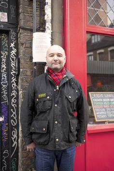 'Barbour international teemed with tartan'
