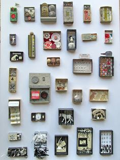 mano's world: art chess 213 - 226 Shadow Box Kunst, Shadow Box Art, Altered Tins, Altered Art, Diy And Crafts, Arts And Crafts, Matchbox Art, Assemblage Art, Recycled Art