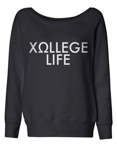 Chi Omega College Life Off Shoulder Long Sleeve - Adam Block Design