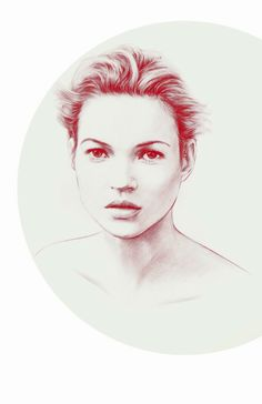 fashion illustration by COOLRISTA Kate Moss