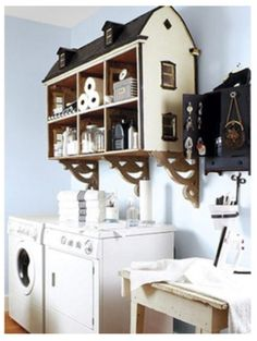 Dollhouse cabinet #repurposed