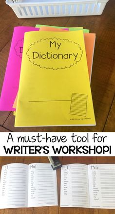 This STUDENT DICTIONARY includes all 220 DOLCH Sight Words, additional word lists, plus two different lined options! Each dictionary uses only 10 sheets of paper and photo instructions are included on how to easily assemble this great tool! Kindergarten Writing, Teaching Writing, Writing Activities, Literacy, Teaching Ideas, Teaching Materials, Second Grade Writing, First Grade Reading, Third Grade