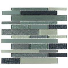 Elida Ceramica Caribbean Diamonds Green Glass Mosaic Linear