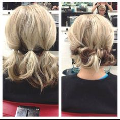 Easy! 3 ponytails then pin Credit Rock Your Locks on FB